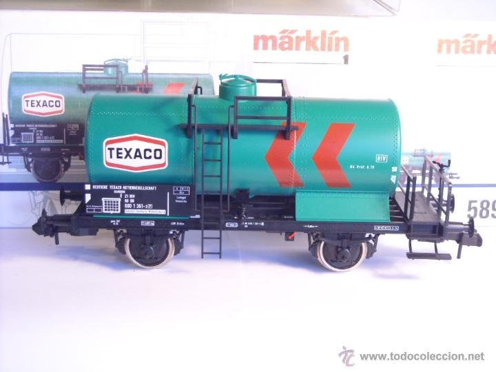 Trenes Escala: Marklin escala 1 1:32 ref 5898 vagon cisterna Texaco de la DB spur1 Nuevo - Foto 6 - 39604780