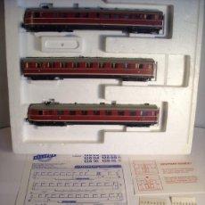Trenes Escala: LILIPUT ESCALA H0 1:87 AUTOMOTOR DIESEL BR VT 06 DE LA DB 3 COCHES EN SU CAJA. Lote 39632178