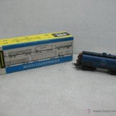 Trenes Escala: PIKO REF: 5/6424-015 - VAGÓN CISTERNA BUNA DE LA DR CON GARITA - ESCALA H0. Lote 40094608