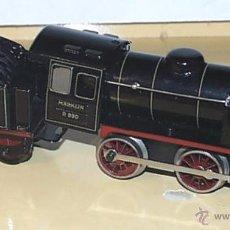 Trenes Escala: ANTIGUA LOCOMOTORA CON TENDER DE MARKLIN R890 ESCALA 0 - A CUERDA - AÑOS 30 - DE CHAPA LITOGRAFIADA. Lote 38242370