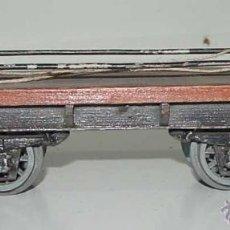 Trenes Escala: ANTIGUO VAGON DE CARGA DE MANAMO ESCALA 0 - MIDE 19 CMS. DE LONGITUD . TAL COMO SE VE EN LAS FOTOGRA. Lote 38259760