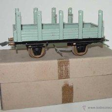 Trenes Escala: ANTIGUO VAGON DE CARGA DE MARCA JOSFEL ESCALA 0 - MIDE 17 CMS. DE LONGITUD . TAL COMO SE VE EN LAS F. Lote 38259762