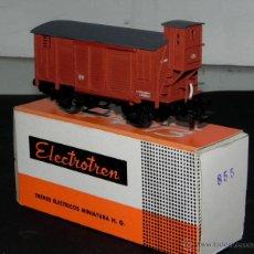 Trenes Escala: ANTIGUO VAGÓN DE TREN ELECTROTREN - VAGON MERCANCIAS REF. 855, ELECTROTREN HO, CON SU CAJA ORIGINAL.. Lote 38281351