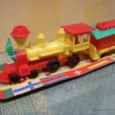 Trenes Escala: VISTOSO TREN DE PLÁSTICO ESPAÑOL DE LOS AÑOS 60.. Lote 41544075