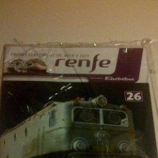 Trenes Escala: TRENES ELECTRICOS DE AYER Y HOY. RENFE ELECTROTREN DE ALTAYA Nº 26 H0 HO. Lote 42330241