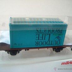 Trenes Escala: MARKLIN ESCALA 1 1:32 REF 5414 VAGON MERCANCIAS CON CONTENEDOR SPUR1 NUEVO. Lote 42357038