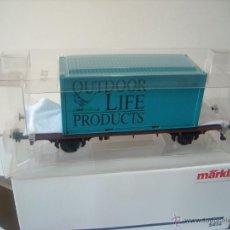 Trenes Escala: MARKLIN ESCALA 1 1:32 REF 5414 VAGON MERCANCIAS CON CONTENEDOR SPUR1 NUEVO. Lote 42357053