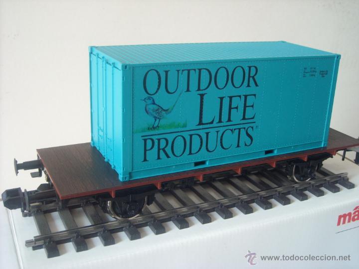 Trenes Escala: Marklin escala 1 1:32 ref 5414 vagon mercancias con contenedor spur1 Nuevo - Foto 2 - 42357053