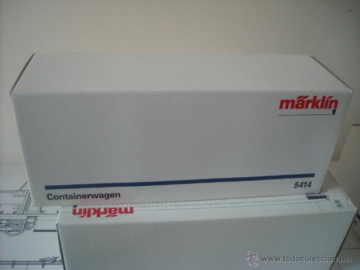 Trenes Escala: Marklin escala 1 1:32 ref 5414 vagon mercancias con contenedor spur1 Nuevo - Foto 5 - 42357053