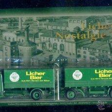 Trenes Escala: GRELL - CAMION ESCALA H0 - CERVEZA LICHER - ALEMANIA AUTOMOVIL. Lote 43653077