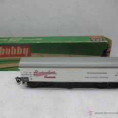 Trenes Escala: HOBBY BERLINER BAHNEN - VAGÓN DE MERCANCÍAS CERRADO CERVECERO BUDWEISER - ESCALA TT. Lote 43988831