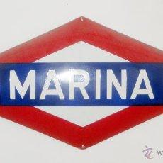 Trenes Escala: PLACA ESTACIÓN DE METRO DE MARINA (BARCELONA). Lote 44596915