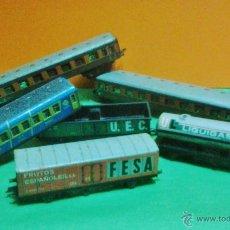 Trenes Escala: ANTIGUO LOTE FERROVIARIO - TREN / FERROCARRIL / JUGUETE - 6 VAGONES / + DE 25 VIAS - VER FOTO . Lote 44862576