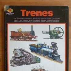 Trenes Escala: TRENES. LAS PRIMERAS LOCOMOTORAS. BIBLIOTECA VISUAL. SANTILLANA. 1971 48 PAG. Lote 44894331