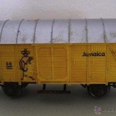 Trenes Escala: VAGON MÄRKLIN TRANSPORTE MERCANCIA JAMAICA - GERMANY - HO (CON SEÑALES DE USO). Lote 45078280