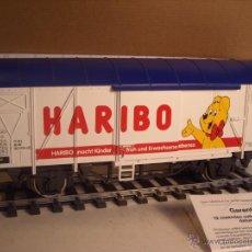 Trenes Escala: MARKLIN ESCALA 1 1:32 REF 5845 VAGON MERCANCÍAS CERRADO DE LA DB HARIBO SPUR1 NUEVO. Lote 46544777