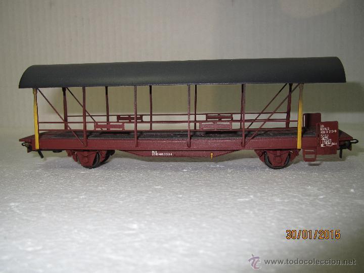Trenes Escala: Vagón Plataforma Transporte de Vehiculos de Cia. Suiza BLS Escala *H0* de METROPOLITAN SWITZERLAND - Foto 3 - 47494655
