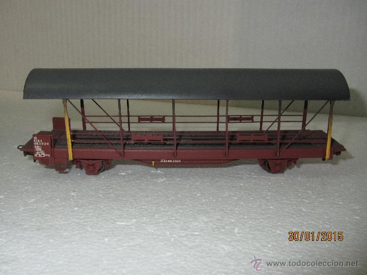 Trenes Escala: Vagón Plataforma Transporte de Vehiculos de Cia. Suiza BLS Escala *H0* de METROPOLITAN SWITZERLAND - Foto 5 - 47494655