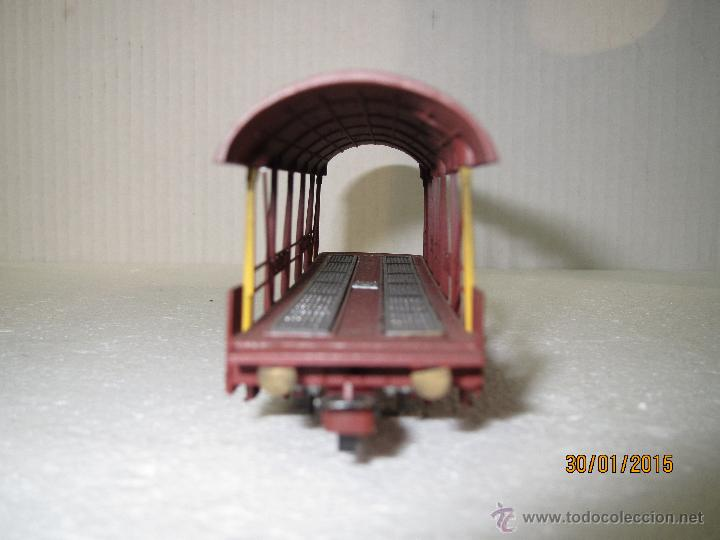 Trenes Escala: Vagón Plataforma Transporte de Vehiculos de Cia. Suiza BLS Escala *H0* de METROPOLITAN SWITZERLAND - Foto 6 - 47494655