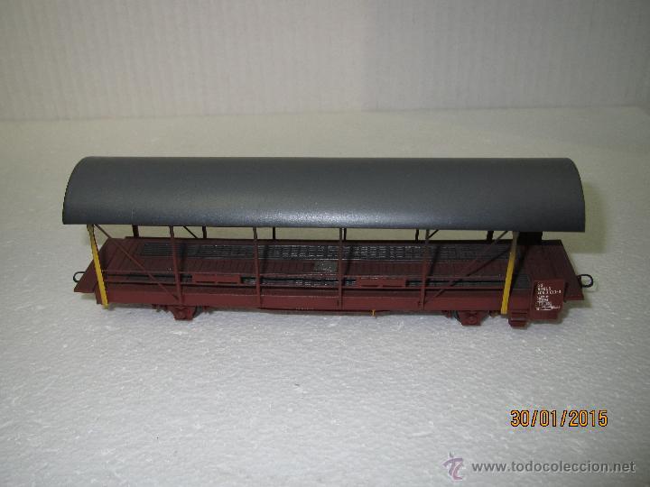 Trenes Escala: Vagón Plataforma Transporte de Vehiculos de Cia. Suiza BLS Escala *H0* de METROPOLITAN SWITZERLAND - Foto 7 - 47494655
