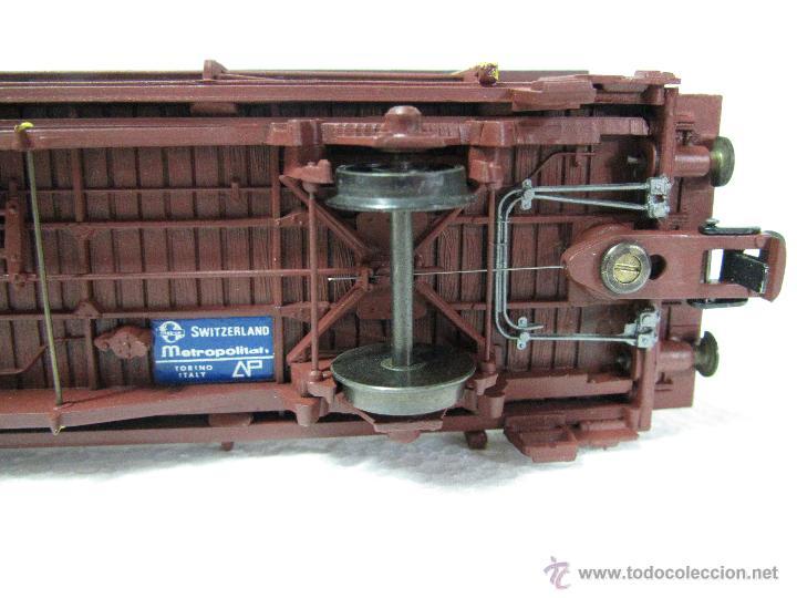 Trenes Escala: Vagón Plataforma Transporte de Vehiculos de Cia. Suiza BLS Escala *H0* de METROPOLITAN SWITZERLAND - Foto 10 - 47494655