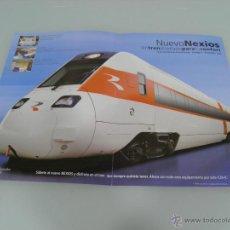 Trenes Escala: POSTER, TRENES, RENFE, NEXIOS 42 X 30. Lote 48804594