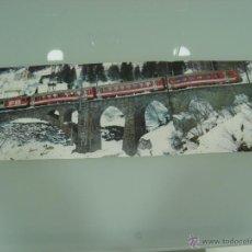 Trenes Escala: POSTER, TRENES, HOBBYTREN, CREMALLERA DEL FURKA OBERALP 60 X 21. Lote 48804764