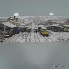 Trenes Escala: POSTER, TRENES, HOBBYTREN, NEVADA EN LA ESTACION DE MONFORTE DE LEMOS 60 X 21. Lote 48804857