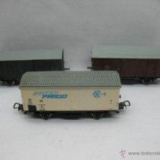 Trenes Escala: PIKO - LOTE DE TRES VAGONES DE MERCANCÍAS CERRADO - ESCALA H0. Lote 48957713