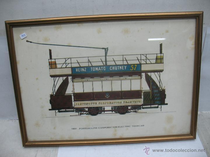 MARCO CON LÁMINA DE TRANVÍA HEINZ TOMATO CHUTNEY 57 (Juguetes - Trenes - Varios)