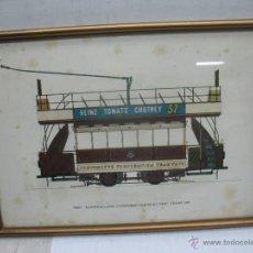 Trenes Escala: MARCO CON LÁMINA DE TRANVÍA HEINZ TOMATO CHUTNEY 57. Lote 50887097