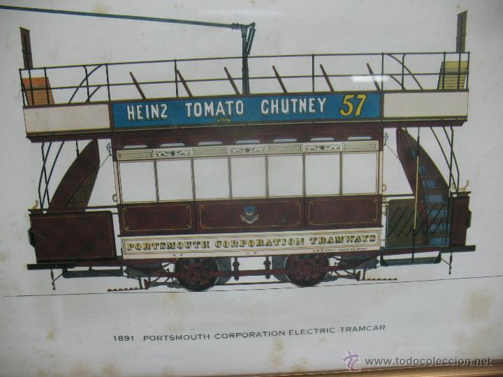 Trenes Escala: Marco con lámina de tranvía Heinz Tomato Chutney 57 - Foto 2 - 50887097