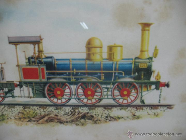 Trenes Escala: Marco con lámina de locomotora a vapor 1849 - Foto 2 - 50887143