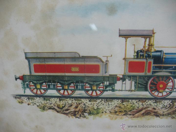 Trenes Escala: Marco con lámina de locomotora a vapor 1849 - Foto 3 - 50887143