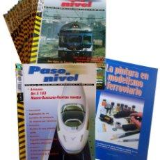 Trenes Escala: PASO A NIVEL 1 A 15 +EXTRA. REVISTA MODELISMO FERROVIARIO Y TREN REAL CROMA PRESS 2004 OFRT. Lote 152197822