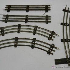 Trenes Escala: LOTE DE 5 VIAS DE PAYA - TREN - ESCALA 0 - MIDEN APROXIMADAMENTE 35 CM - ESTADO TAL Y COMO SE VE EN . Lote 51400731