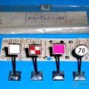 Trenes Escala: F-1 SEÑALES FERROVIARIAS PARA ELECTROTREN Y TRENES H0, BONALAMI HOSPITALET BARCELONA, AÑOS 50-60.. Lote 51538967