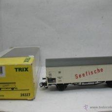 Trenes Escala: TRIX REF: 24327 - VAGÓN DE MERCANCÍAS CERRADO DE LA DR SEEFISCHE - ESCALA H0. Lote 51702158