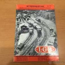 Trenes Escala: TRENES L.G.B. LEHMANN CATALOGO DE 1975. Lote 52884745