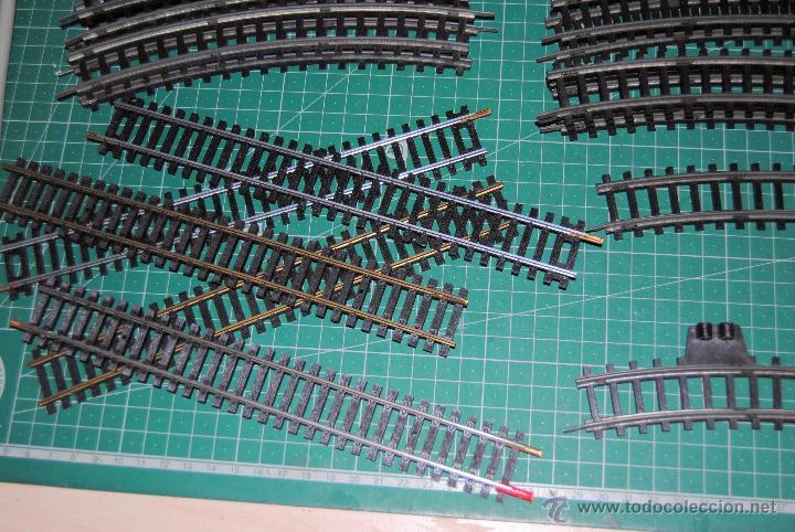 Trenes Escala: CURIOSO LOTE DE ANTIGUAS VIAS CURVAS HO JEYSA. LEER DESCRIPCIÓN DEL CONTENIDO, - Foto 6 - 53089526