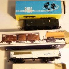 Trenes Escala: LOTE DE TRES VAGONES PIKO ESCALA H0 1/87 . Lote 53103243