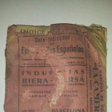 Trenes Escala: GUIA DE HORARIOS DE TRENES DE ESPAÑA (1900). Lote 53390872