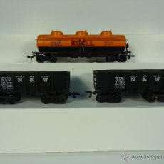 Trenes Escala: BACHMANN H0 - LOTE TRES VAGONES MERCANCIAS USA - CAJA ORIGINAL - COMO NUEVOS. Lote 54484599