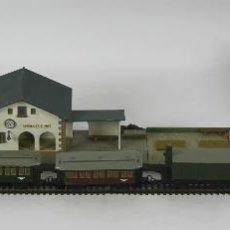 Trenes Escala: TREN ELECTRICO KLEINBAHN CON ESTACIÓN DE SANTA CRISTINA DE ARO. SIGLO XX.. Lote 49332833