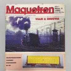 Trenes Escala: MAQUETREN-6,MODIFICACIONES: VAGONES PORTUGUESES EN HO,CONSTRUCCIÓN DE UNA MAQUETA (IV),BIG BOY. Lote 55322798