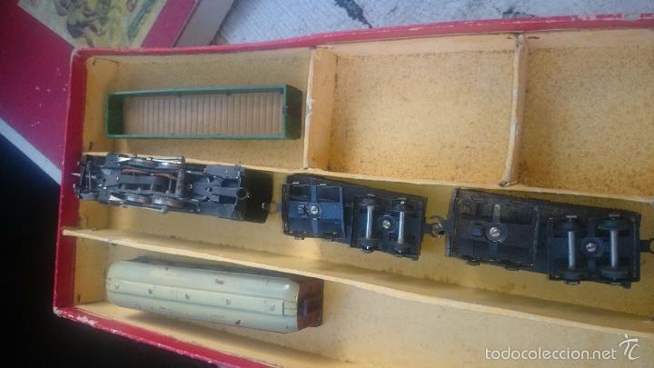 Trenes Escala: Paya locomotora y vagones coche butacas despice con caja original etiqueta ESCALA S - Foto 2 - 56997120