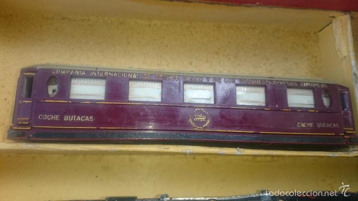 Trenes Escala: Paya locomotora y vagones coche butacas despice con caja original etiqueta ESCALA S - Foto 5 - 56997120