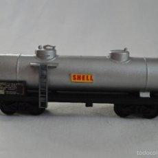 Trenes Escala: VAGÓN CISTERNA SHELL. JOUEF. H0. ROMANJUGUETESYMAS.. Lote 57368204