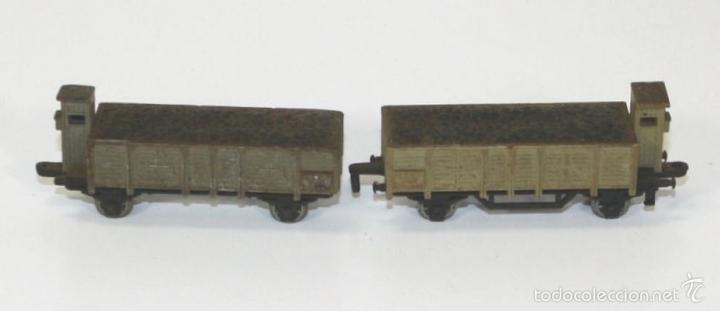 Trenes Escala: COLECCIÓN DE LOCOMOTORA CON 8 VAGONES DE CARGA. RAIL ROUTE. 1/143. FRANCIA. - Foto 5 - 58012346