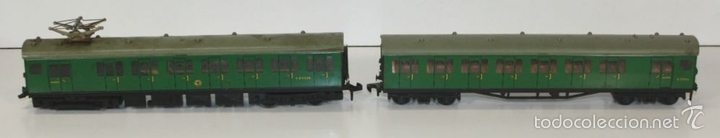 Trenes Escala: LOTE DE 3 VAGONES EN RESINA. MECCANO LTD. MADE IN ENGLAND.CIRCA 1950. - Foto 7 - 58123145